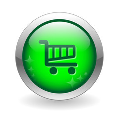 SHOPPING CART Web Button (buy order now online add to cart sign)