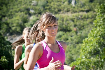 Female Jogger running outdoors
