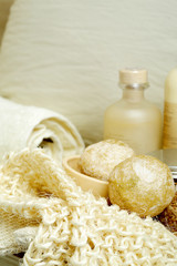 Soaps and spa accessories