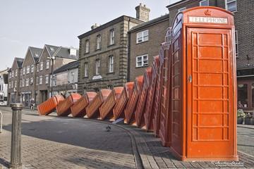 Red  telephones in Kingston
