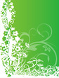 abstract flower Illustration vector spring summer green
