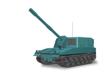 Fictitious non-existent self-propelled artillery