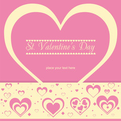 Nice Valentines retro card.