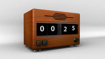Vintage Clock Radio Countdown