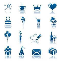 Celebrate icon set