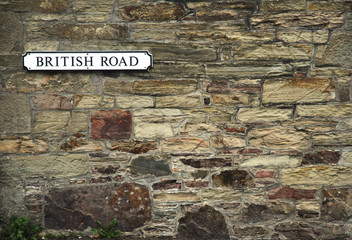 British Road Sign