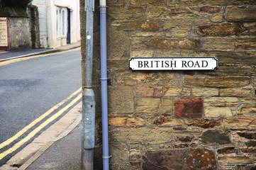 British Road Sign