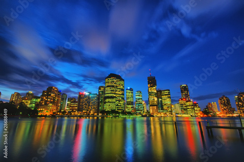 Brisbane skyline city night