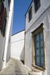 White house and blue sky in Patmos - Pedestrian street of Chora
