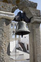 Patmos - Bronze bell detail of the Monastery St. John