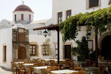 Chora of Patmos, characteristic taverna - Greece