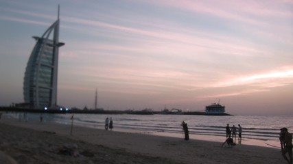 evening beach in Dubai.