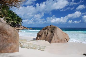 La Digue, Seychellen, Anse Patates 1