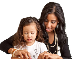 Mother mentoring daughter