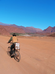 Bike in the desert, tucuman