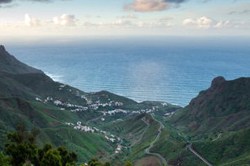View at settlement at Tenerife, Canary Islands