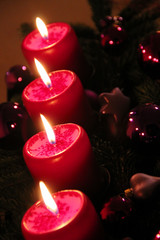 Advent: vier Kerzen