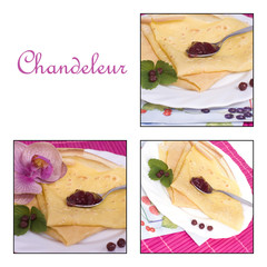 chandeleur - collage crêpes