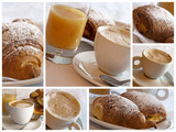 Fototapety Italian breakfast - collage