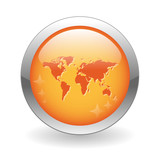 INTERNATIONAL Button (global world trade map business travel) poster