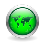 INTERNATIONAL Button (global world map business travel trade) poster