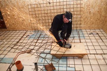 heated floor  reinforcement