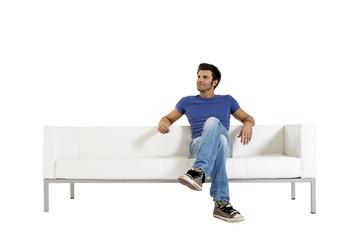 man on the sofa