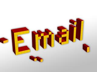 email con blocchi-pixel
