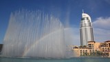 Rainbow fountains in Dubai