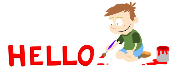 hello - greeting - vector