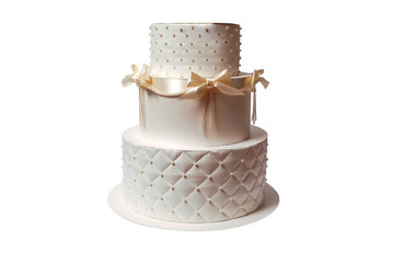 gift box in a form of cake on white