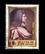 North Korean mail stamp featuring King George I