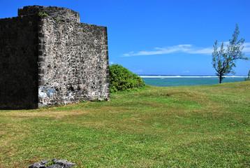 Ruine am Strand - Mauritius