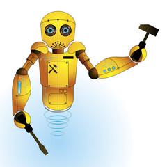 Vector Robot: Mechanic background