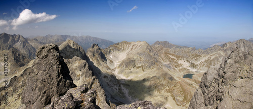 Summer mountain panorama of the High Tatras.