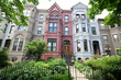Italianate Style Row Homes Houses Washington DC USA