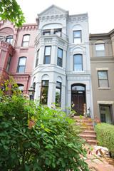 Ornate Italianate Style Row Homes Houses Washington DC USA