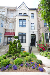 Brick Victorian Row Homes Houses Washington DC USA