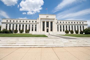 Federal Reserve Bank Building Washington DC, USA, Blue Sky