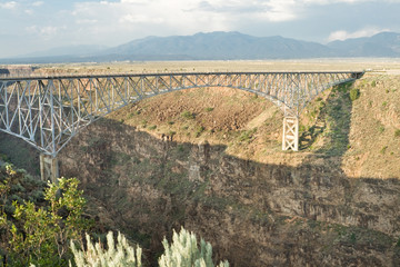 Rio Grande River Gorge Bridge New Mexico Terminator Salvation
