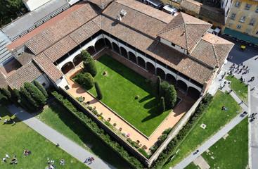 Aerial view of an Italian villa