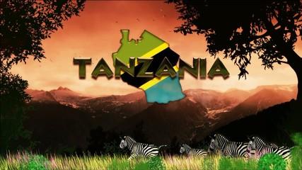 Migración en Tanzania día caluroso: cebras