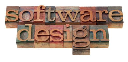 software design in letterpress type