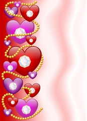 Cuori di Diamanti-Diamond Hearts Background-Vector