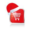 Einkaufswagen Button X Mas