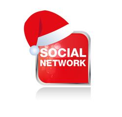 Social Network Xmas Icon