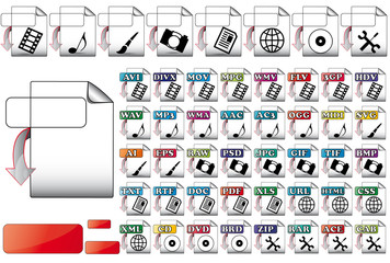 set download format file icons for use multimedia