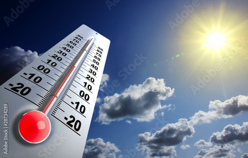 Leinwanddruck Bild réchauffement globale