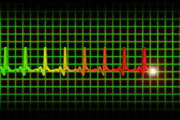 Ekg/ecg pulse diagram header