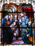 stain glass window at historic church florida
